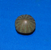 A large and pleasant Celtic bronze chip carved domed decorative stud, possibly from horse harness, British. SOLD